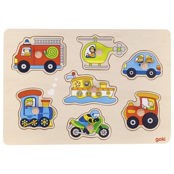 Puzzle de Encaixar Meios de Transporte - Goki