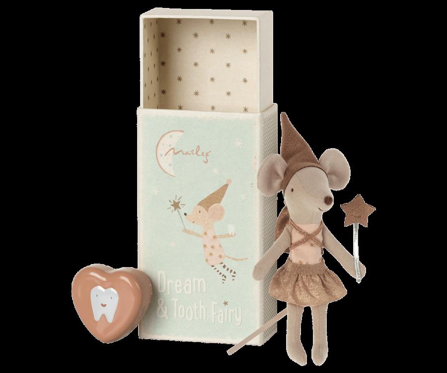 Ratinha Fadas dos Dentes Rosa | Caixa de Fósforo | Maileg