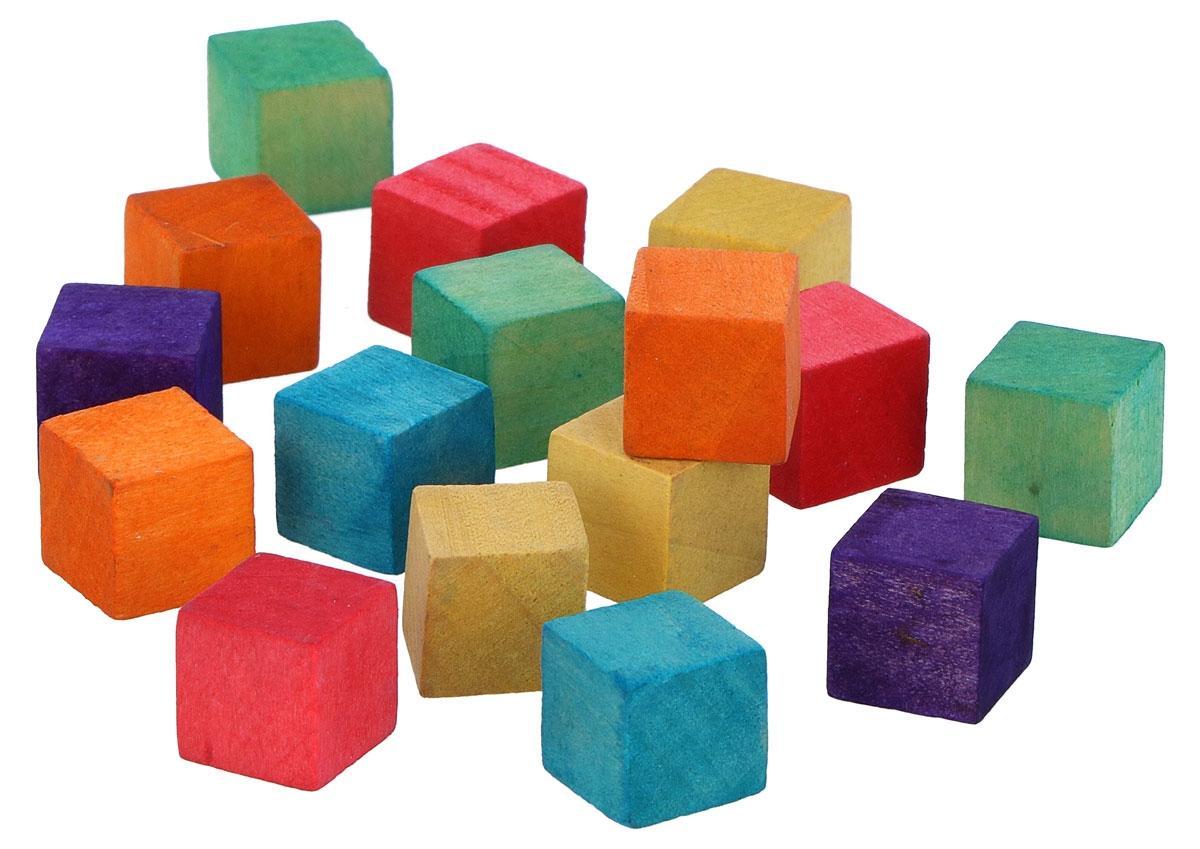 Cubinhos de Madeira Coloridos