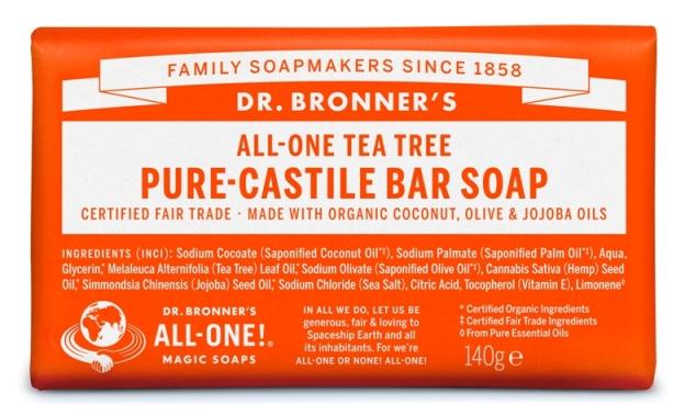 Tea tree Sabonete em Barra biológico - Dr. Bronner's