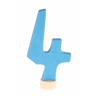 Número decorativo 4 antroposófico - Grimm's