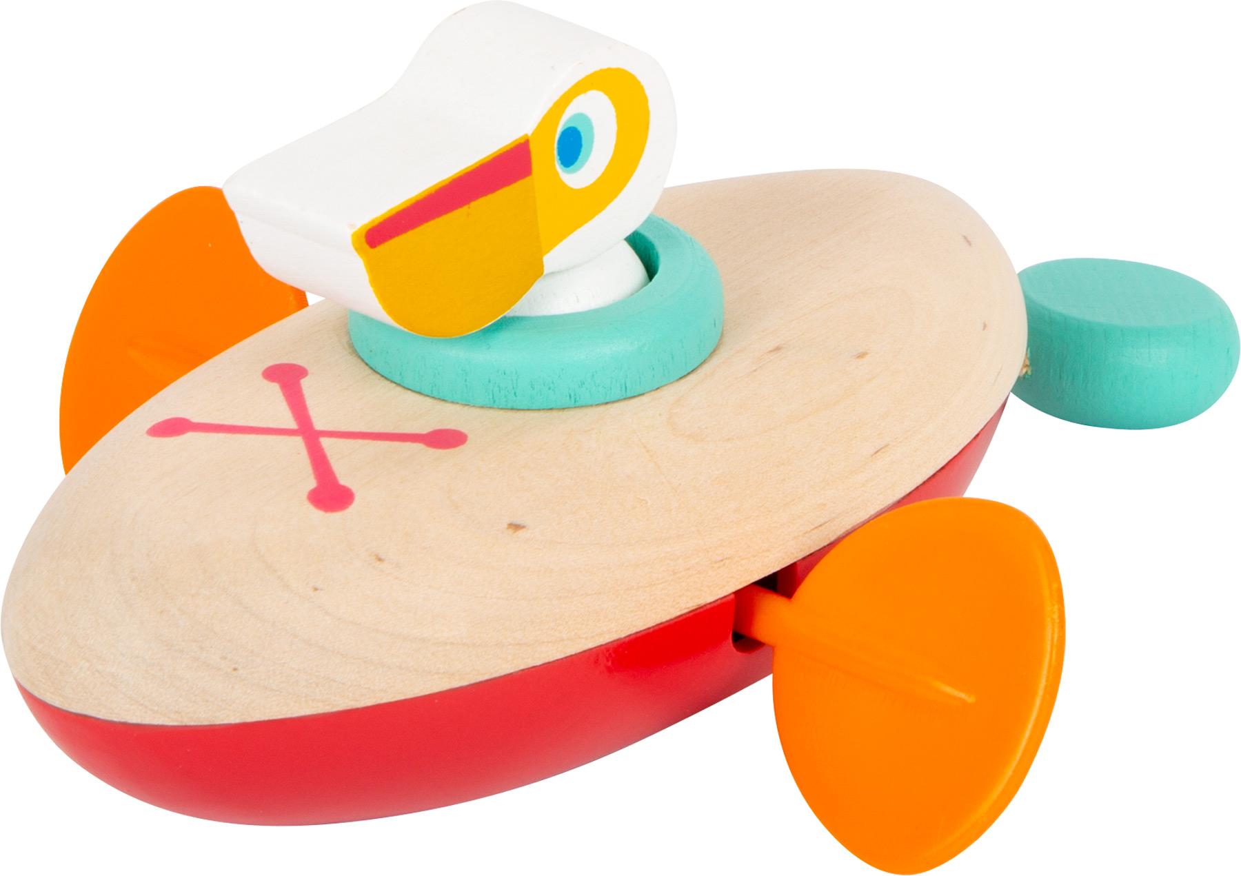 Pelicano Na Canoa de corda | Brinquedo de Água