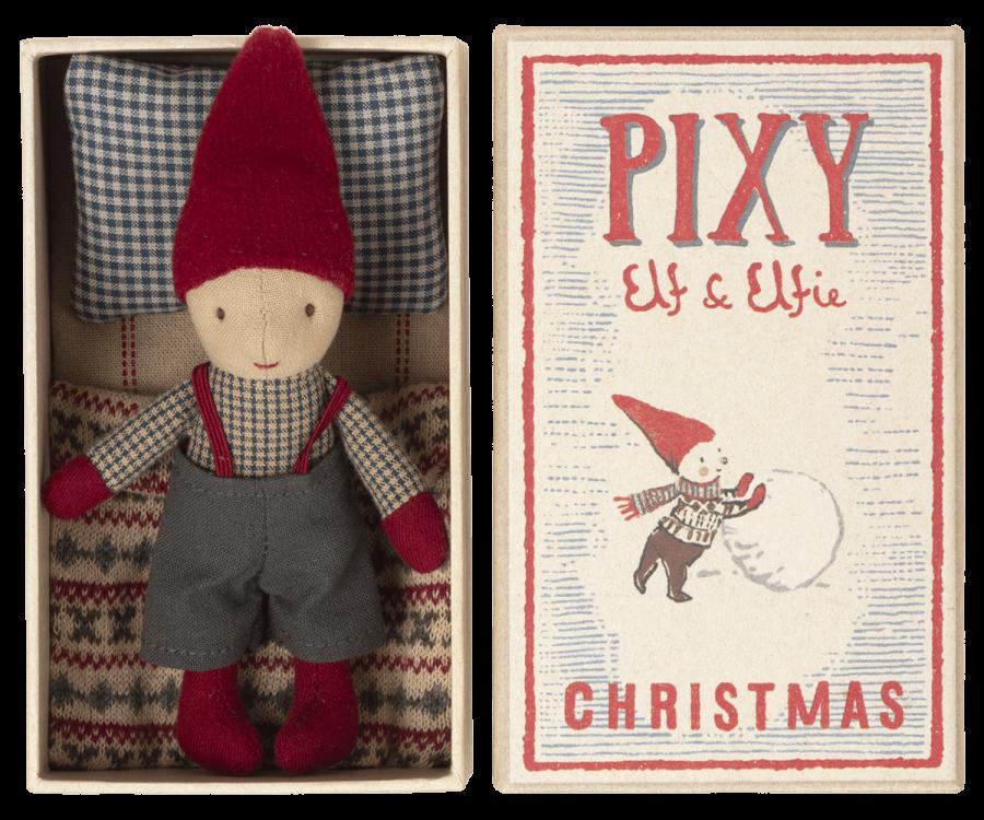 Pixy Elf   Elfo de Natal em Caixa de Fósforo