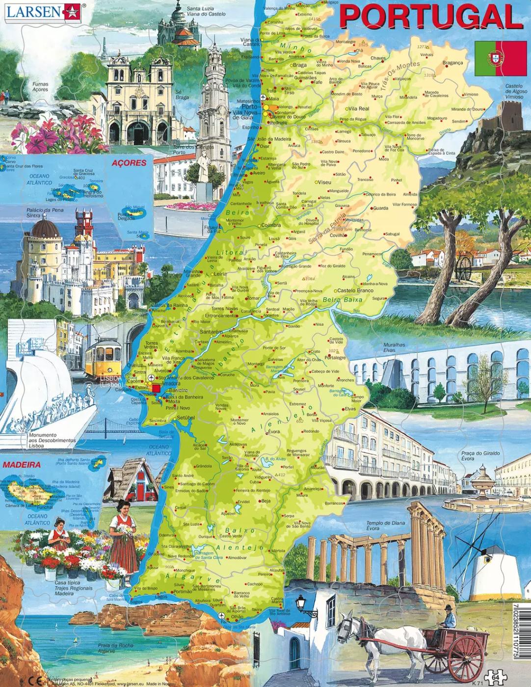 Puzzle Portugal - Larsen