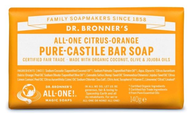 Citrinos Sabonete em Barra biológico - Dr. Bronner's