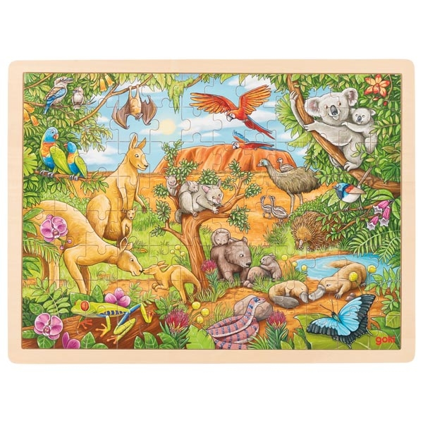 Animais Australianos Puzzle de Peças GRANDE