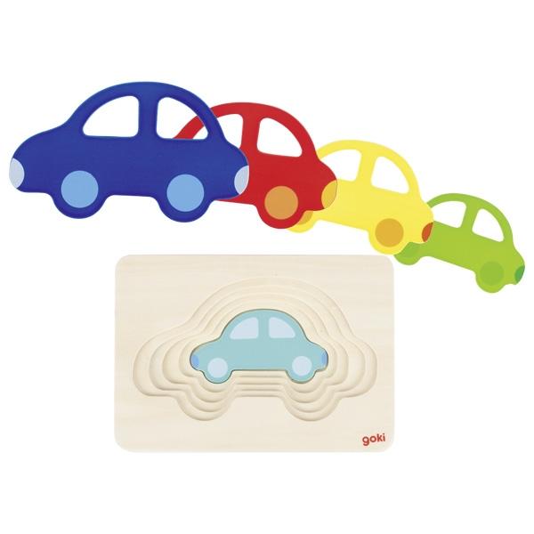 Carro Puzzle em Camadas - Goki