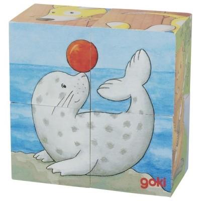 Puzzle de Cubos Animais Bebés
