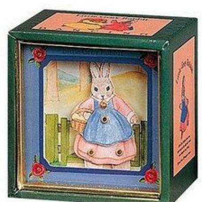 Mini Caixa Musical - Coelha com Cesto   Pedrito o Coelho