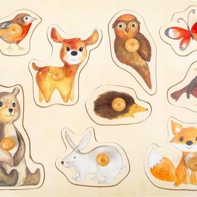 Animais da Floresta Puzzle de Pegas