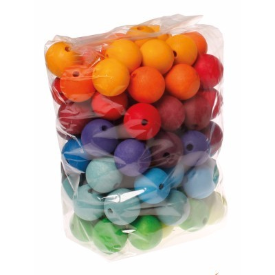 96 coloured Beads, 30mm - Grimm´s