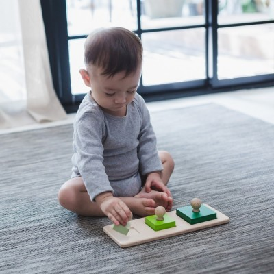 Triângulo Puzzle de Pareamento - Plan Toys