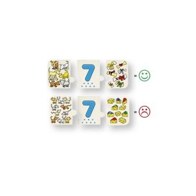 Puzzle de Peças Contar e Classificar - Goki