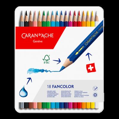 18 Lápis Aquareláveis FANCOLOR | Caran d'Ache