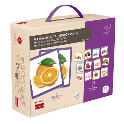 Jogo da Memória Maxi Alimentos Saudáveis - Akros