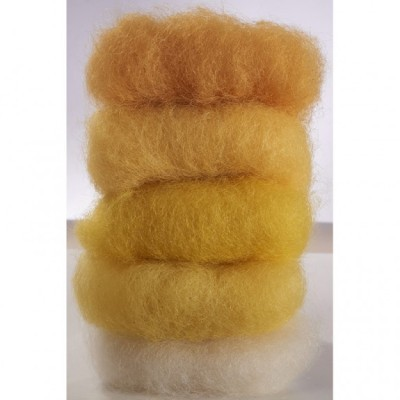 Lã Natural de Feltrar Amarelo Sortido 50gr - Gluckskafer