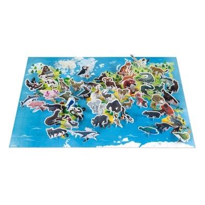 Puzzle Mapa Mundo e Animais | 200 peças