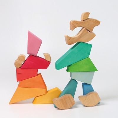 Puzzle de Construção Leão Arco-Íris