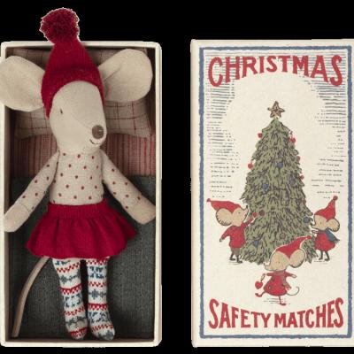 Ratinha de Natal em Caixa de Fósforos   Maileg