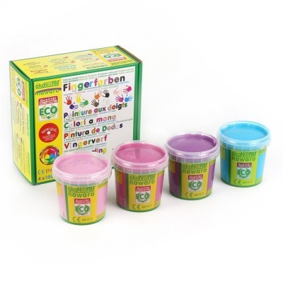 Tinta de Dedos Cores Frias Nawaro 4 unidades Ecofee Princesas | ökoNORM