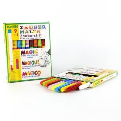 Canetas de Feltro Mágicas 9+1 cores - ökoNORM