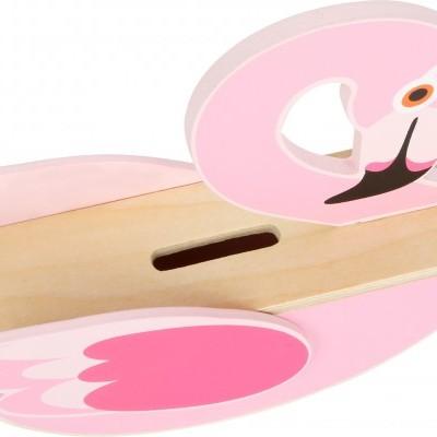 Flamingo Mealheiro de Madeira