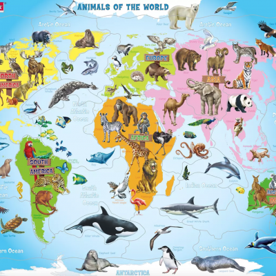 Puzzle Animais do Mundo - Larsen