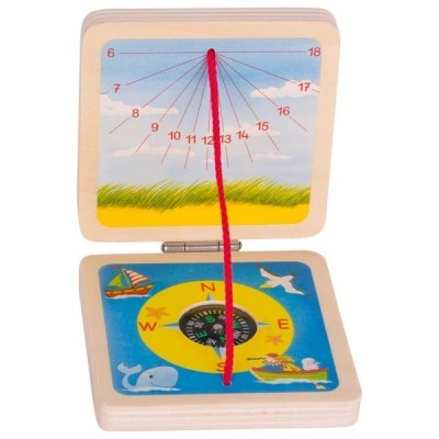 Bússola e Relógio Solar Portátil - Goki