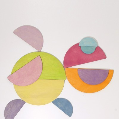 Semi-círculos Pastel