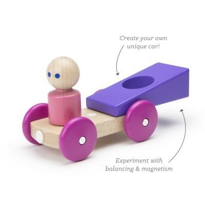 Carro de Corrida Magnético Roxo - Tegu