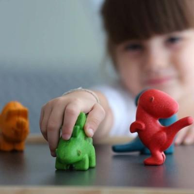 Conjunto de Dinossauros - Plan Toys