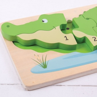Crocodilo Puzzle de Números - BigJigs