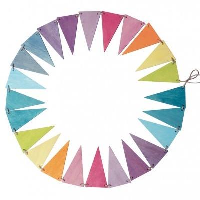 Bandeiras decorativas Arco-Íris Pastel - Grimm's