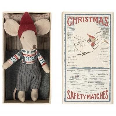 Ratinho de Natal em Caixa de Fósforos   Maileg
