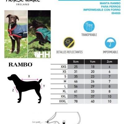 Capa para Cão RAMBO Impermeável c/ Forro