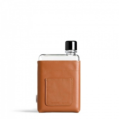 A6 TAN LEATHER SLEEVE MEMOBOTTLE