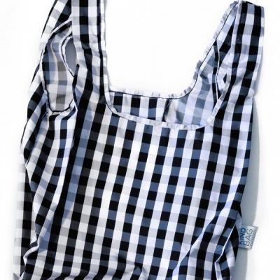 Kind Bag Gingham Black & White - Medium