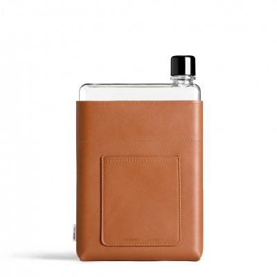 A5 TAN LEATHER SLEEVE MEMOBOTTLE