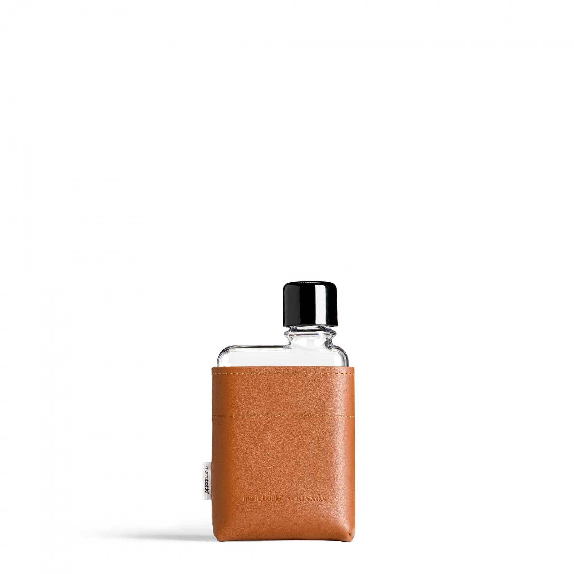 A7 Tan Leather Sleeve memobottle