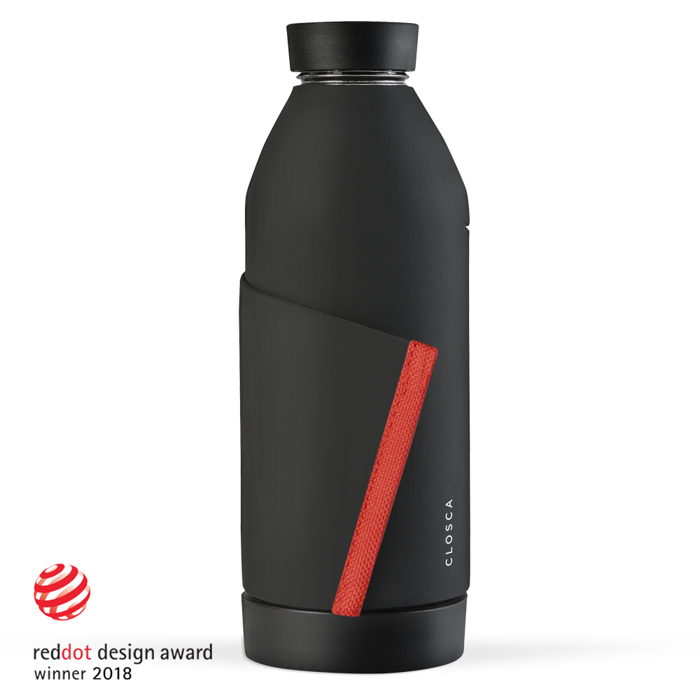 CLOSCA™ BOTTLE Black/Coral