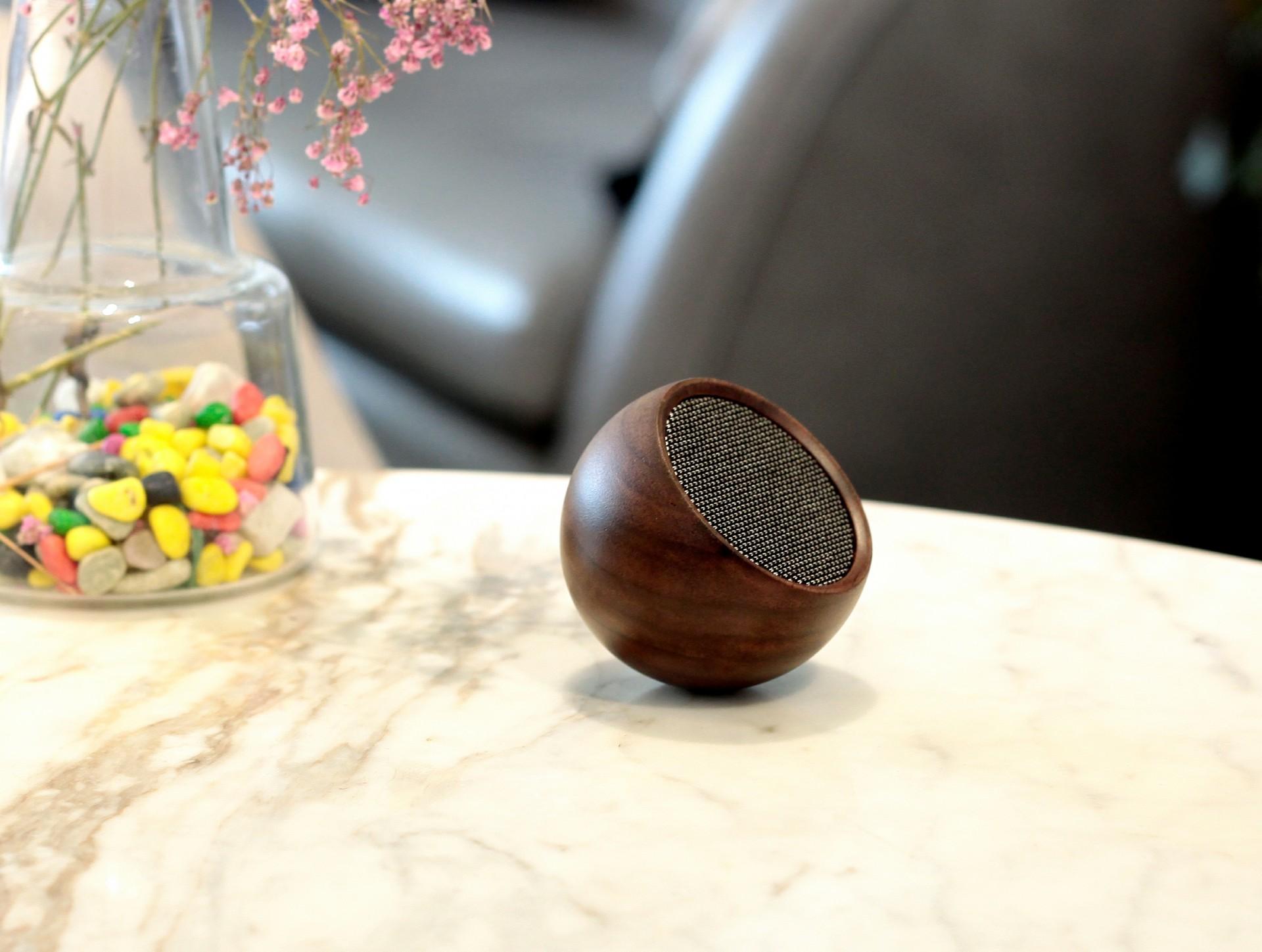 Tumbler Selfie Speaker - Walnut