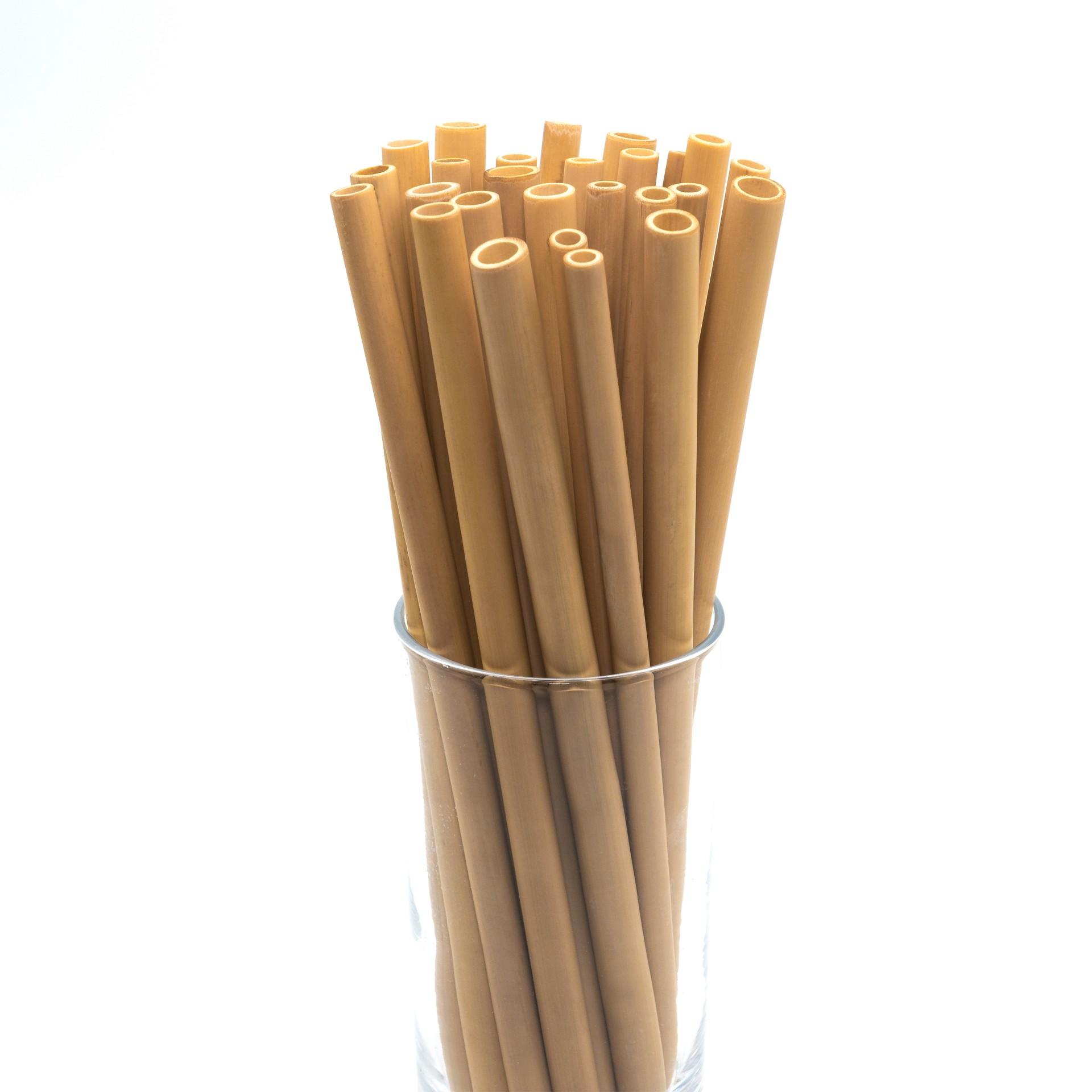 50 CANAS DE BAMBU NATURAL / NATURAL BAMBOO STRAWS _ Set of 50