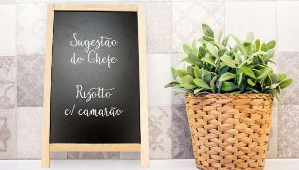 Cavalete Menu c/ Lousa Preta