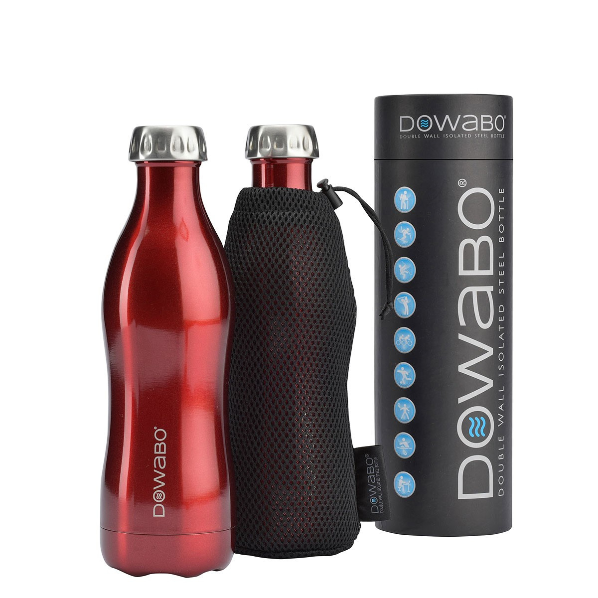 DOWABO® Bottle - Silver 500ml Metallic Collection