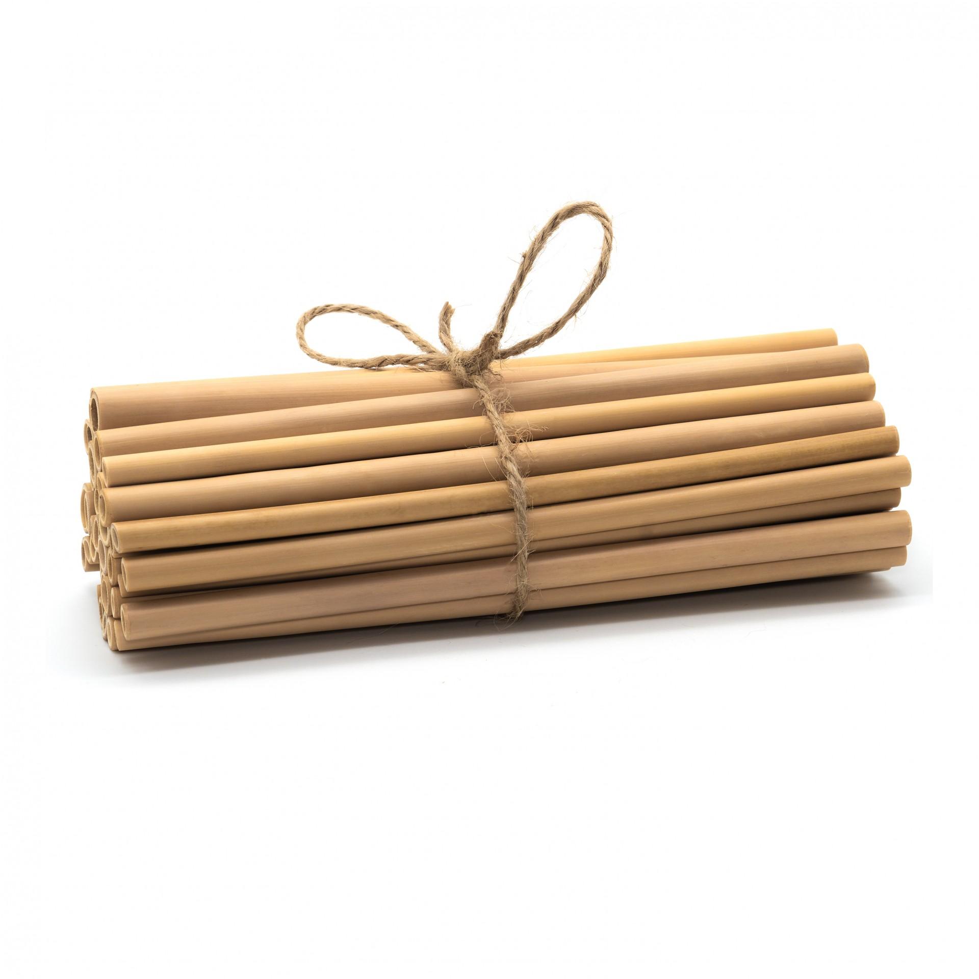 20 CANAS DE BAMBU NATURAL / NATURAL BAMBOO STRAWS _ Set of 20