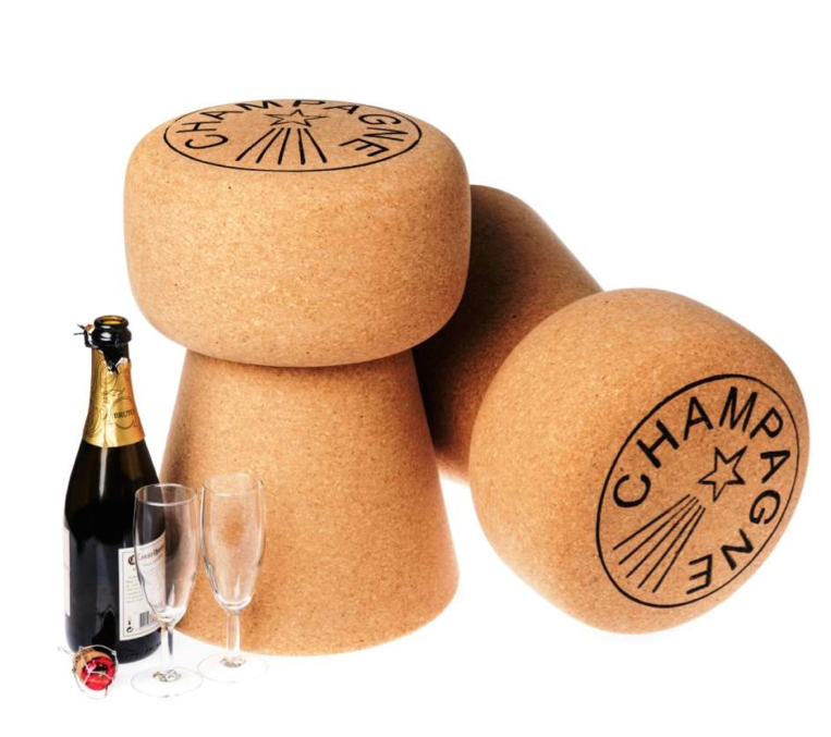 Banco de cortiça / Champagne Cork Stopper Stool