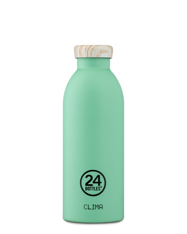 Clima Bottle - Mint (Wooden Lid) 500ml