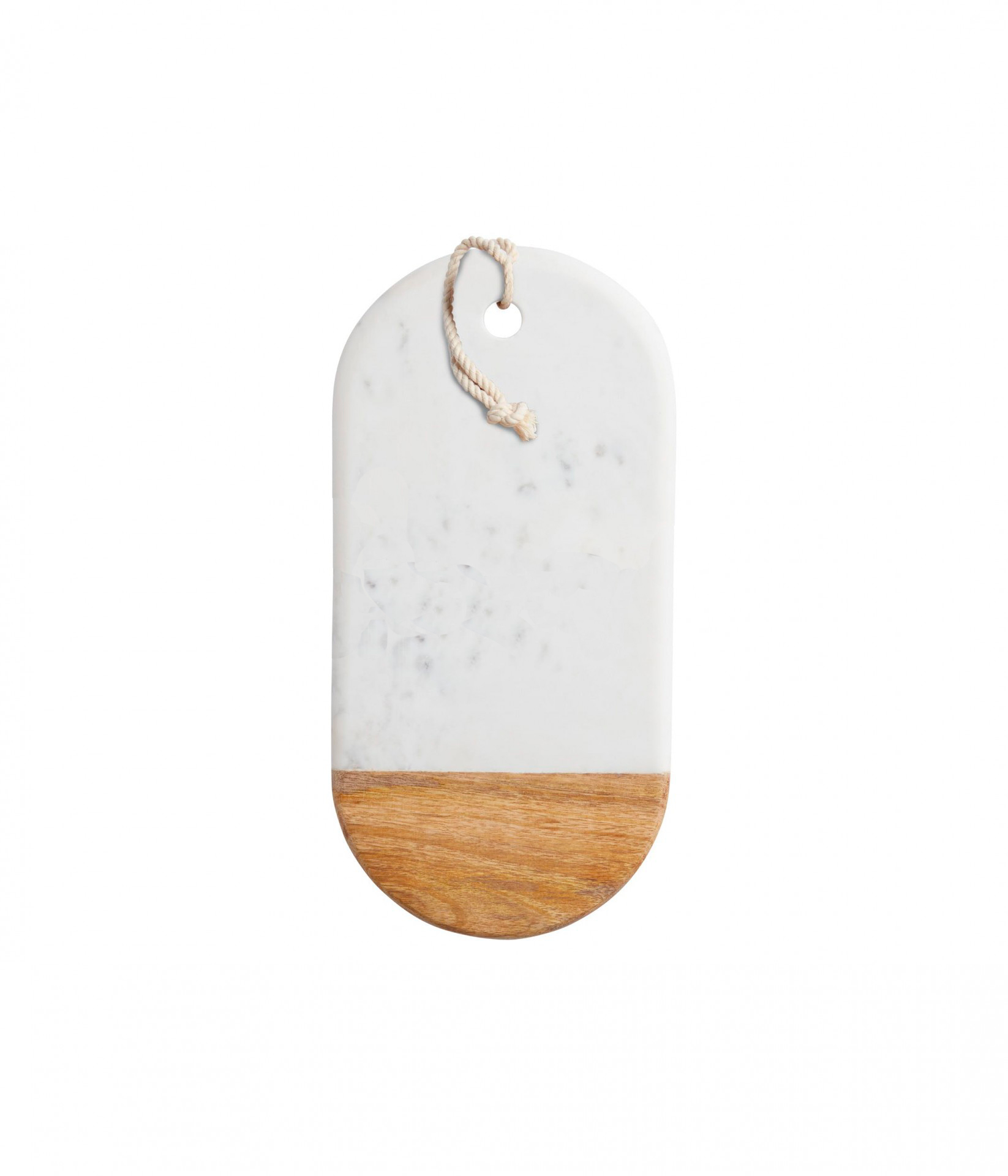Marble & Wood Oval Serving Board