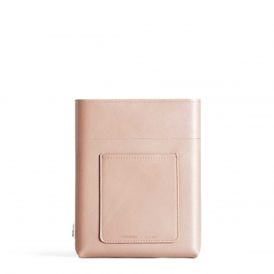 A5 Nude Leather Sleeve memobottle