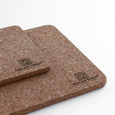 Bases de cortiça rectangulares, Conjunto de 2